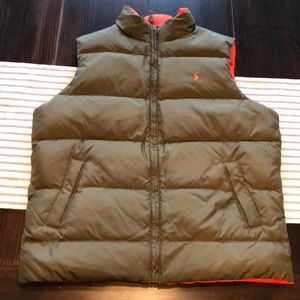 Polo Ralph Lauren Brown & Orange Puffer Vest